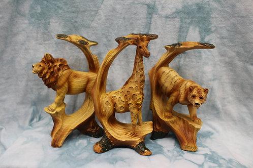 Small Giraffe/Tiger/Lion Figurines