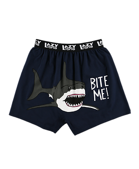 """Bite Me"" Shark Lazy One Men's Boxers"