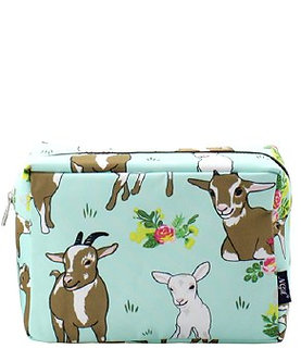Farmhouse Goat Cosmetic Bag by NNK Creations