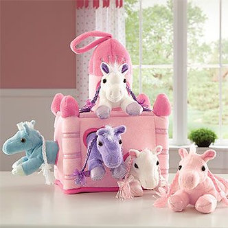 Horse Pink Castle Animal House by Unipak