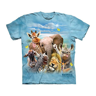 """African Selfie"" Zoo Animals Youth T-Shirt by The Mountain"