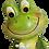 Frog Shelf Sitter Figurine