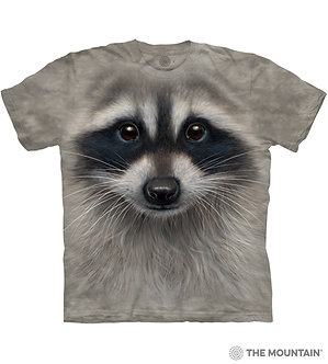 """Raccoon Face"" Adult T-Shirt by The Mountain"