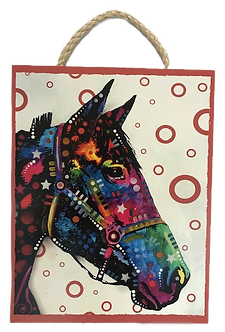 Horse Decorative Wood Hanging Plaque by Prints Charming