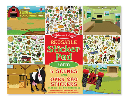 Melissa & Doug Farm Reusable Sticker Activity Pad