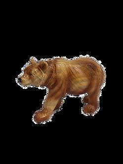 "Small ""Wooden"" Bear Figurine"