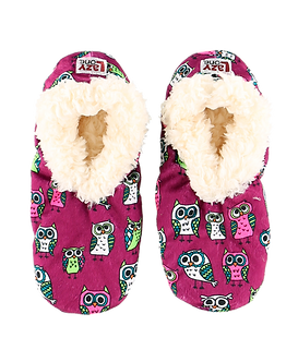 """Night Owl"" Owl Lazy One Fuzzy Feet Slippers"