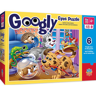 48 Piece Pets Googly Eyes Jigsaw Puzzle by MasterPieces