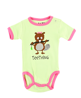Teething Baby Girl Onesie by Lazy One