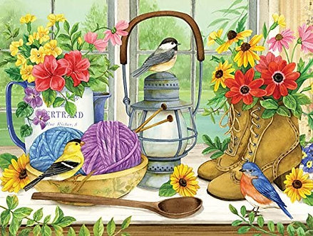 "500 Piece Bird Jigsaw Puzzle by SunsOut ""The Lady's Table"""