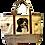 Australian Shepherd Dog Canvas Tote Bag, by E&S Pets