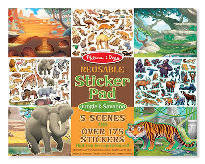 Melissa & Doug Jungle & Savanna Reusable Sticker Activity Pad