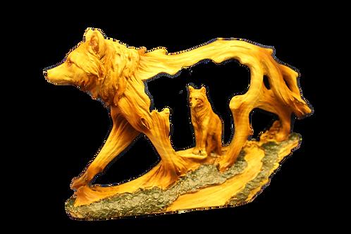 Unique Wolf Cut-Out Figurine