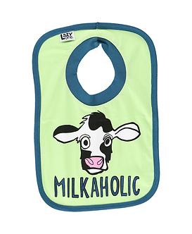 Milkaholic Cow Bib by Lazy One