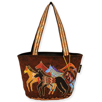 "Laurel Burch ""Native Horses"" Sm/Med Purse/Tote Bag"
