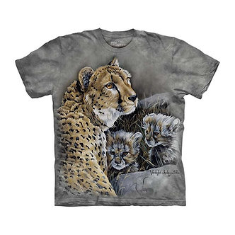 """""""Cats Home"""" Leopard and Cubs Youth T-Shirt by The Mountain"""