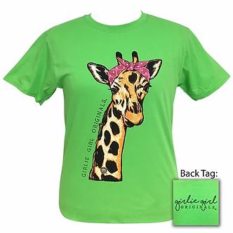 """""""Bandana Giraffe"""" Adult T-Shirt by Girlie Girl Originals"""