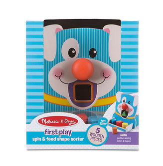 Melissa & Doug First Play Puppy Spin & Feed Shape Sorter