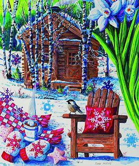 "550 Piece Jigsaw Puzzle by SunsOut ""Mountain Cabin Fever"""