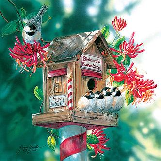 "500 Piece Bird Jigsaw Puzzle by SunsOut ""Bird-nard's Barbershop"""