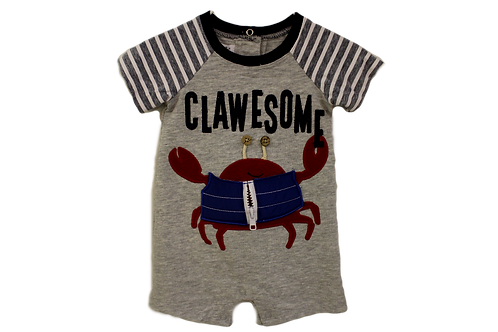 Clawesome Crab Baby Romper by Mudpie
