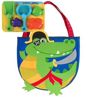 Pirate Alligator Beach Tote Bag by Stephen Joseph