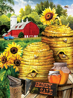 "1000 Piece Bee Jigsaw Puzzle by SunsOut ""Bee Farm"""