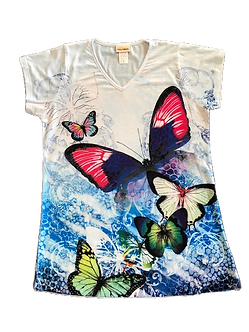 """Beautiful Butterflies"" V-Neck Shirt by Sunshirt"