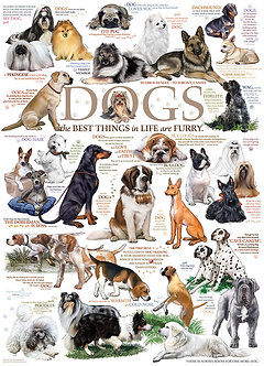 """1000 Piece Dog Jigsaw Puzzle by Cobble Hill """"Dog Quotes"""""""