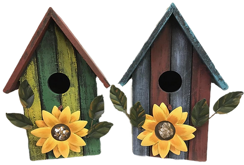 Wooden Decorative Striped Birdhouse by Gerson