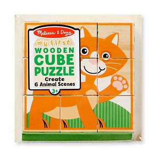 9 Piece Melissa & Doug My First Animals Cube Puzzle