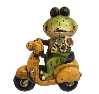 Frog on Moped Figurine by Gerson
