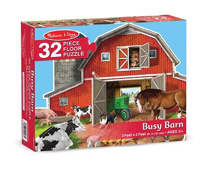 32 Piece Melissa & Doug Busy Barn Shaped Floor Puzzle