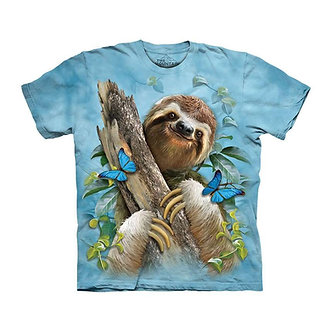 """Sloth & Butterflies"" Youth T-Shirt by The Mountain"