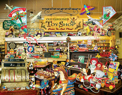 "1000 Piece Jigsaw Puzzle by SunsOut ""An Old Fashioned Toy Shop"""