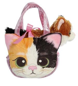 Fancy Pals Esmeralda Calico Kitten/Cat Purse