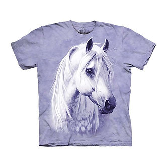 """""""Moonshadow"""" White Horse YouthT-Shirt by The Mountain"""