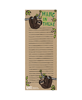 Lazy One Hang in There Magnetic Notepad - Sloth
