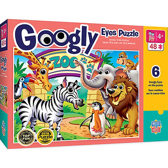 48 Piece Zoo Animals Googly Eyes Jigsaw Puzzle by MasterPieces