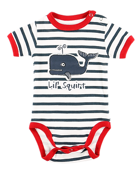 Lil' Squirt Whale Baby Onesie by Lazy One