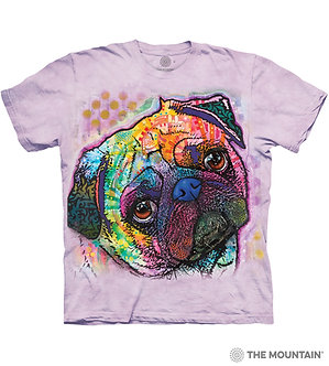 """Lovable Pug"" Adult T-Shirt by The Mountain"