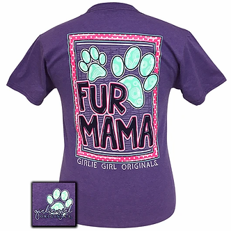"""Fur Mama"" Dog Adult T-Shirt by Girlie Girl Originals"