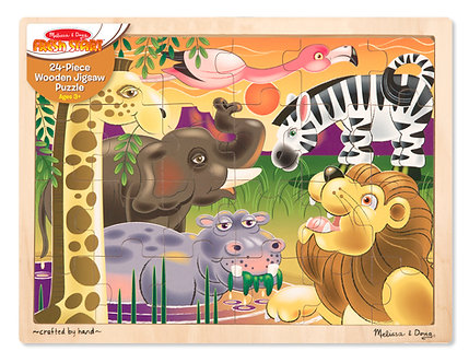 24 Piece Melissa & Doug African Plains Wooden Jigsaw Puzzle