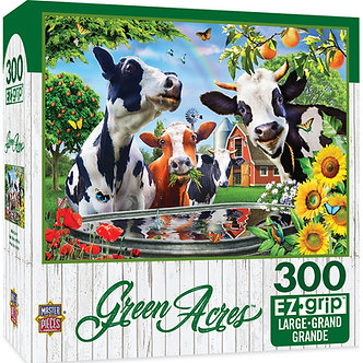 "300 Piece Green Acres ""Moo Love"" Cow Jigsaw Puzzle by MasterPieces"