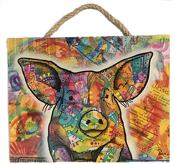 Pig Decorative Wood Hanging Plaque by Prints Charming