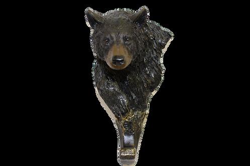 Large Black Bear Decorative Wall Hook