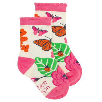 Monarch Butterfly Toddler Socks by Stephen Joseph