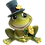 Small Frog with Hat Figurine by Gerson