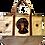 Black Dachshund Dog Canvas Tote Bag, by E&S Pets