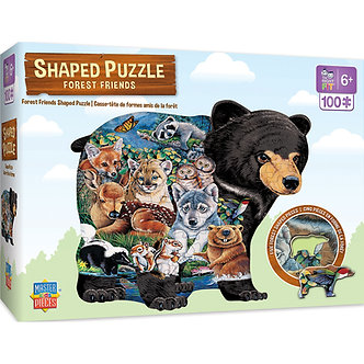 100 Piece Forest Friends Shaped Jigsaw Puzzle by MasterPieces